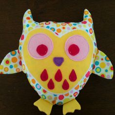 First attempt at stuffed toy owl.... Fun!!