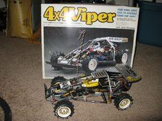 ULTRA RARE Vintage Ayk Viper RC Radio Controlled Car Buggy w Box and More!! #AYK