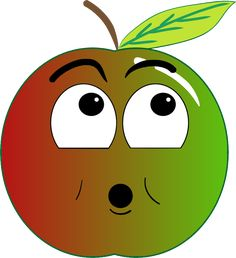 foto de BC + pomme rouge heureuse smiley émoticône clipart cartoon fond transparent Emoticone