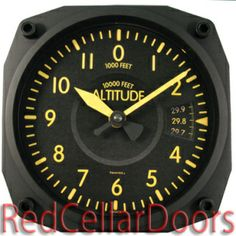 Vintage Altimeter clock (with a clean face)