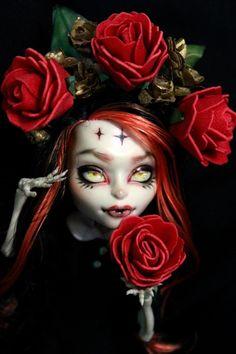 Ooak Custom Monster High Doll Skelita Calaveras Repaint | eBay