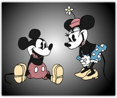 Old Friends Clip Art | Vintage Mickey + Minnie Mouse by ~andy-pants on deviantART
