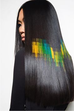 pixelated hair layer by layer great looks Pixie Hairstyles, Cool Hairstyles, Coloured Hair Spray, Hair Stenciling, Pelo Multicolor, Competition Hair, Hair Shows, Hair Affair, Crazy Hair