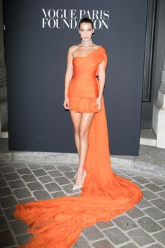 Bella Hadid attends Vogue Foundation Dinner during Paris Fashion Week as part of Haute Couture Fall/Winter 2017-2018 at Musee Galliera on July 4, 2017 in Paris, France.
