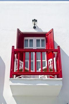 Red Balcony, Mykonos, Greece