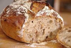 Knetfreies Dinkel-Walnuss-Brot