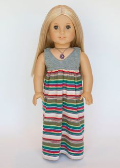 American girl doll Salina maxi dress  by EverydayDollwear on Etsy, $19.00
