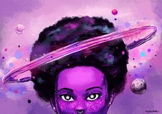 """etoilearts: """" afro so big it has it's own gravitational pull """""""