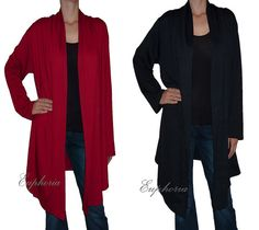 Women Cardigan  Sewater Knit Asymmetric Blouse by DancingQween8888