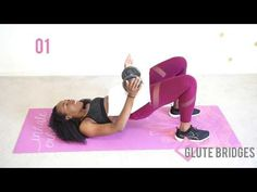 Glute bridges are AMAZING for growing your butt and getting a nice round shape. A big, strong butt is also essential for. 👉 S U B S C R I B E :D 👉 FREE wor. Bridge Workout, 100 Squats, Holistic Healing, Fitness Nutrition, Weight Loss Motivation, Glutes, Workout Videos, Stay Fit, Bridges