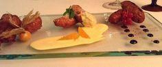 """Da kyev: La ricetta dello Chef  Giorgio Trovato (Calabria):   """"Variazione di Crustoli. Al miele di corbezzoli, alla vaniglia su zabaione, alle clementine di Corigliano Calabro, alla riduzione di liquirizia"""""""