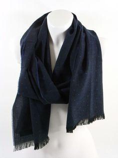 FRAAS Herrenschal Damenschal dunkelblau gepunktet Herbst Winter Geschenk Schal