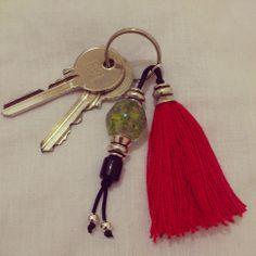 shuuforyou style bisuteria moda fashion jewelry handmade bracelet macramé pulseras keys llavero pompón