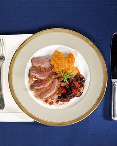Alternative for Thanksgiving : Duck Breast with Cherry Chutney - Martha Stewart Recipes