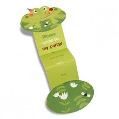 Springer Die-Cut Frog Invitation