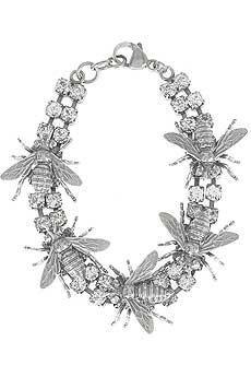 Tom Binns Bee hive bracelet Sterling silver bee hive bracelet with diamante gem Bee Jewelry, Insect Jewelry, Vintage Jewelry, Jewelry Accessories, Jewellery, Hives And Honey, Honey Bees, Buzzy Bee, Tom Binns