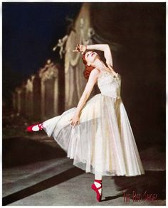 'The Red Shoes'...wonderful movie...beautiful 15 minute ballet sequence by Moira Shearer making her film debut.  Heart wrenching story of a young ballet dancer who is torn between the man she loves and her pursuit to become a prima ballerina.  A must watch!!
