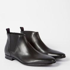 Paul Smith Men's Black Leather 'Marlowe' Chelsea Boots