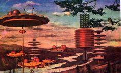 How Soviet Artists Imagined Communist Life in Space: An untitled work of V. Burmistrov