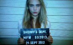 "Cara #Delevingne ""Treat Your Girl Right"" #mugshot"