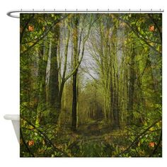 magical trail scene Shower Curtain on CafePress.com