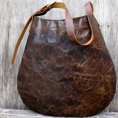 Old World Distressed Marbled Cowhide Leather Hobo Bag by Stacy Leigh  Loven' it ! michele