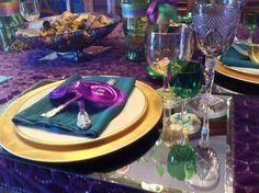 Mardi Gras ~ Table setting.
