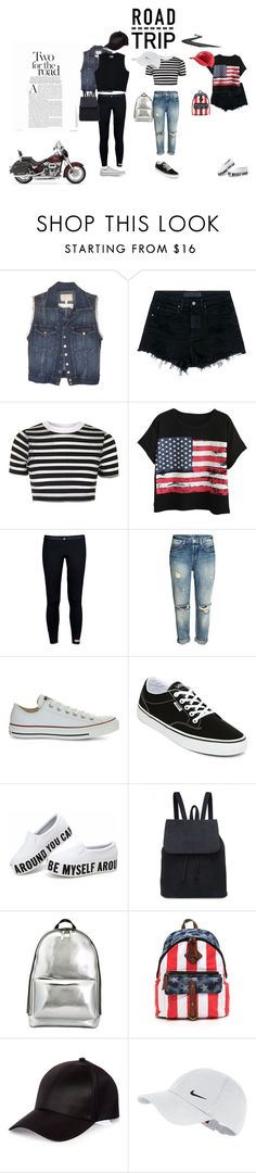"""""""road trip"""" by carakerr ❤ liked on Polyvore featuring Current/Elliott, Harley-Davidson, Alexander Wang, Topshop, Chicnova Fashion, adidas, Converse, Vans, 3.1 Phillip Lim and River Island"""