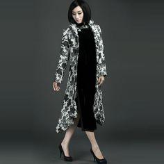 Flocking Velvet Windbreaker Overcoats - $309 - SKU: 774830 - Buy Now: http://elegente.com/nzx.html #ChineseladyQipao #Qipao #Cheongsam