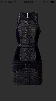 Velvet dress with braiding