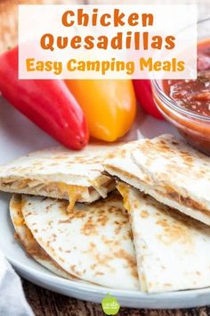 Add this Healthy Quesadilla Recipe to your list of easy camping lunches. Made wi. - Add this Healthy Quesadilla Recipe to your list of easy camping lunches. Made wi… – Tacos, Tac - Camping Meals For Kids, Camping Lunches, Camping Menu, Kids Meals, Easy Meals, Camping Recipes, Camping Foods, Camping Ideas, Healthy Camping Snacks