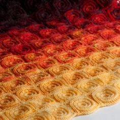 Fire blanket crochet pattern by YarnTwist
