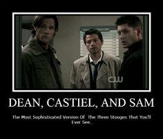 Funny Dean Castiel and Sam by thraxey.deviantart.com on @deviantART