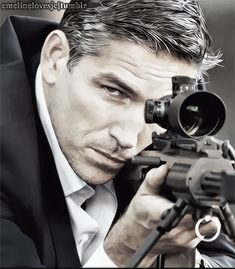 John Reese/Jim Caviezel Appreciation Post - My Gifs. Reese's Swag : Killer Face/My Kind of POI Noir. From Person Of Interest Foe [1.08].