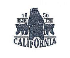 California t-shirt with grizzly bear. Graphic Design Portfolio Examples, California Bear, Bear Logo, Eps Vector, Doodles, Logos, Drawings, Illustration, Bears