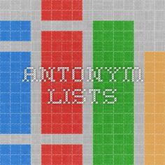 antonym lists