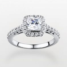 Sterling Silver 2-ct. T.W. DiamonLuxe Frame Ring