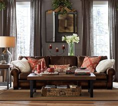 The Leaked Secret to Living Room Paint Color Ideas with Brown Furniture Leather Couches Colour P Uncovered - untoldhouse Living Room Decor Brown Couch, Living Room Sectional, Paint Colors For Living Room, New Living Room, Living Room Furniture, Sectional Sofas, Pouf Cuir, Barn Living, Ideas Hogar