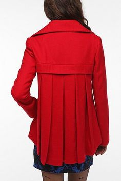 Pleated-Back Coat