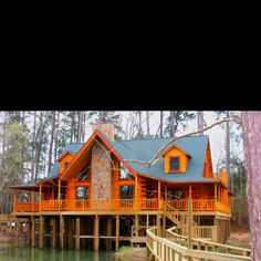 1000 images about houses on stilts on pinterest house Log cabin homes on stilts