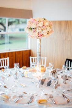 Tall rose centerpieces | Natasja Kremers Photography | see more on: http://burnettsboards.com/2014/09/glamorous-wedding-cutest-flower-girls/