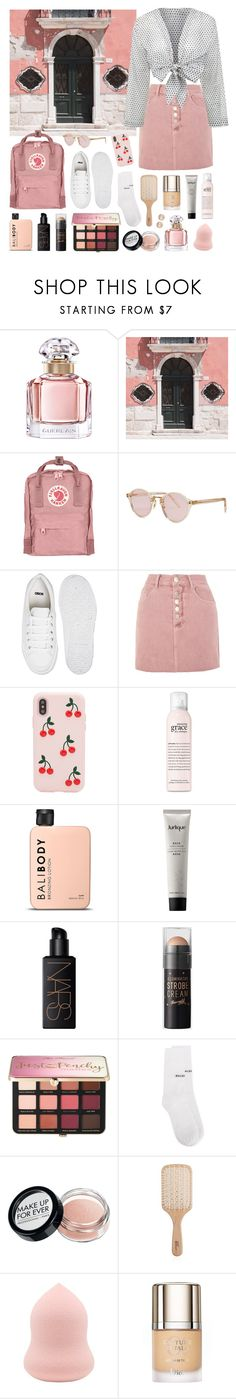 """Venice Pink"" by sophiehackett ❤ liked on Polyvore featuring Guerlain, WALL, Fjällräven, Oliver Peoples, ASOS, Glamorous, Lisa Marie Fernandez, Sonix, philosophy and Jurlique"