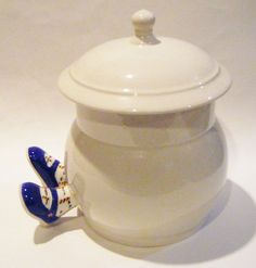 Rare Vintage Lustre Doulton Ware Cookie Jar Covered Jar With Legs Made In England Royal Doulton by parkledge on Etsy
