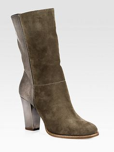 Music Leather & Suede Mid-Calf Boots - Zoom - Saks Fifth Avenue Mobile