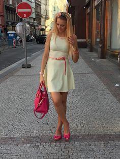 Estate in colori! Vestitino #H&M comprato tanti anni fa, borsa #MichaelKors, balerine #MelbyMelissa