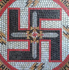 RELIC WAFFEN SS SCHUTZSTAFFEL DAGGER SWORD SHIELD CERAMIC MOSAIC THIRD REICH GERMAN WW2 PRICE $9999