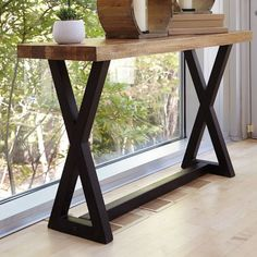 Ashley Furniture Wesling Sofa/Console Table with Made of wood and metal,Mango wood tabletop with plank design,Metal base with rustic black finish,Assembly required Decor, Diy Furniture, Ashley Furniture, Wood Console Table, Table, Home Decor, Wood Console, Contemporary Console Table, Metal Furniture