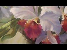 Dibujar las Orquídeas. Artista Igor Sájarov.