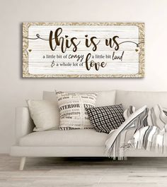 Family Wall Art: This Is Us A Little Bit Of Crazy (Wood Frame Ready To Hang) The Effective Pictures We Offer You About wood decoration A quality picture can tell you many things. You can find the most Family Wall Art, Family Room, Family Wall Quotes, Family Wood Signs, Wall Sayings Decor, Kitchen Wall Quotes, Wood Signs For Home, Love Wall Art, Vinyl Wall Quotes