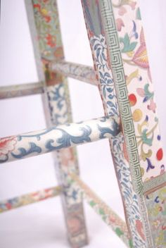Decoupage stool Qian by kitschemporium on Etsy